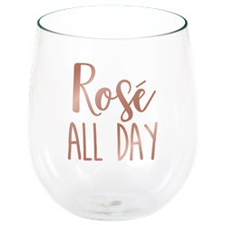 Rosé All Day Stemless Wine Glass - 398ml