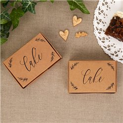 Hearts & Krafts Wedding Cake Boxes - 9cm