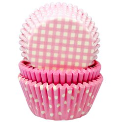 Light Pink Patterned Cupcake Cases