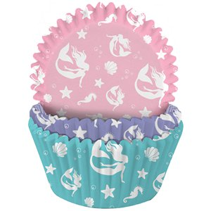 Mermaid Patterned Cupcake Cases