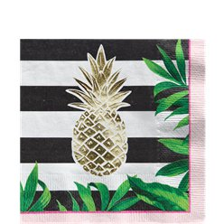 Golden Pineapple Paper Napkins - 33cm
