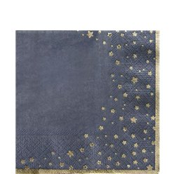 Gold Star Cocktail Napkins - 25cm