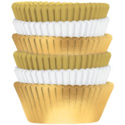 Gold Mix Cupcake Cases - 5cm