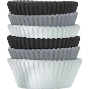 Silver Mix Cupcake Cases - 5cm