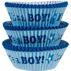 Baby Shower Boy Cupcake Cases - 5cm
