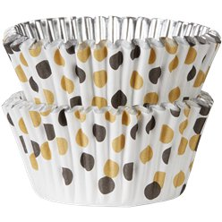 Gold Mix Dot Cupcake Cases - 5cm