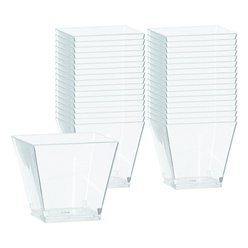 Clear Plastic Mini Cocktail Cubes - 56ml