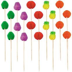 Fruit Honeycomb Drink Picks - 10cm