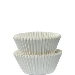 White Mini Cupcake Cases - 3cm