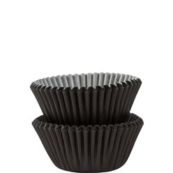 Black Mini Cupcake Cases - 3cm