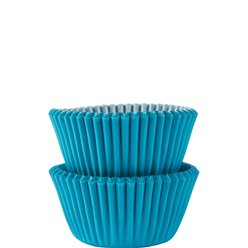 Caribbean Blue Mini Cupcake Cases - 3cm