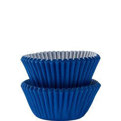 Royal Blue Mini Cupcake Cases - 3cm