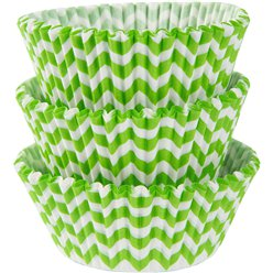 Kiwi Chevron Cupcake Cases - 5cm
