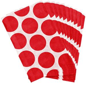 Apple Red Polka Dot Paper Sweet Bags - 17cm