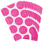 Bright Pink Polka Dot Paper Sweet Bags - 17cm