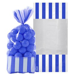 Bright Royal Blue Cello Sweet Bags - 27cm