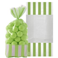 Kiwi Green Cello Sweet Bags - 27cm