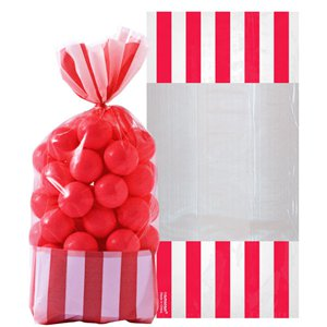 Apple Red Cello Sweet Bags - 27cm