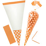 Orange Peel Cello Sweet Cones - 24cm