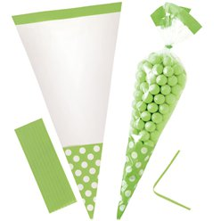 Kiwi Green Cello Sweet Cones - 24cm
