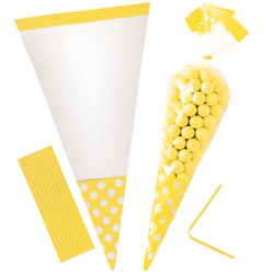 Sunshine Yellow Cello Sweet Cones - 24cm