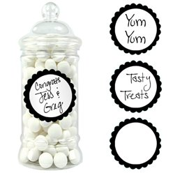 Black Candy Buffet Sweet Labels - 5cm
