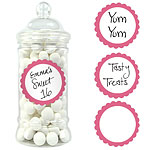 New Pink Candy Buffet Sweet Labels - 5cm