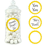 Yellow Sunshine Candy Buffet Sweet Labels - 5cm