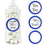 Bright Royal Blue Candy Buffet Sweet Labels - 5cm