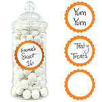 Orange Peel Candy Buffet Sweet Labels - 5cm