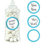 Robins Egg Blue Candy Buffet Sweet Labels - 5cm