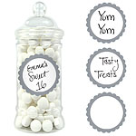 Silver Candy Buffet Sweet Labels - 5cm