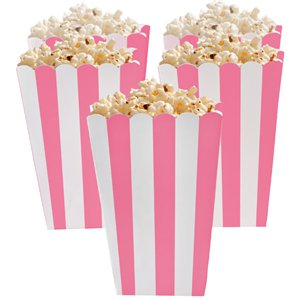 New Pink Popcorn Boxes - 13cm