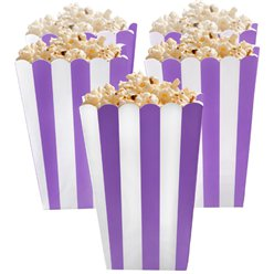 Purple Popcorn Boxes - 13cm