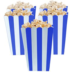 Bright Royal Blue Popcorn Boxes - 13cm