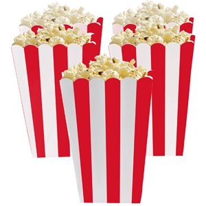 Apple Red Popcorn Boxes - 13cm