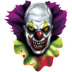 Scary Clown Cutout - 38cm
