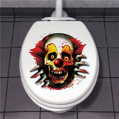 Scary Clown Toilet Decoration - 60cm