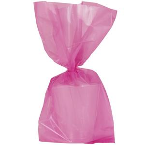 Hot Pink Large Cello Party Bags - 29cm