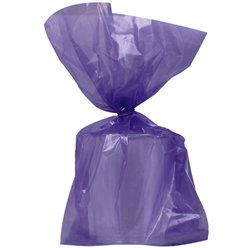 Purple Large Cello Party Bags - 29cm