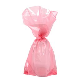 Baby Pink Small Cello Party Bags - 24cm
