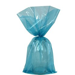 Turquoise Small Cello Party Bags - 24cm