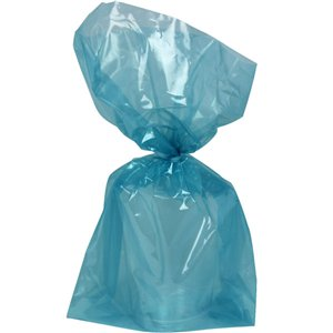 Turquoise Large Cello Party Bags - 29cm