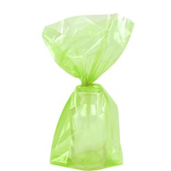 Lime Green Small Cello Party Bags - 24cm