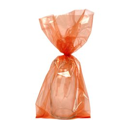 Orange Small Cello Party Bags - 24cm