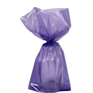 Purple Small Cello Party Bags - 24cm