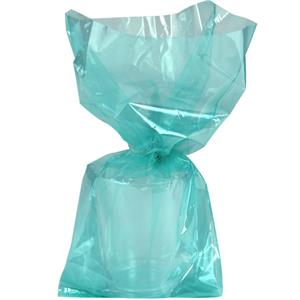 Robins Egg Blue Large Cello Party Bags - 29cm