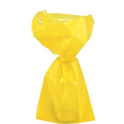 Yellow Small Cello Party Bags - 24cm