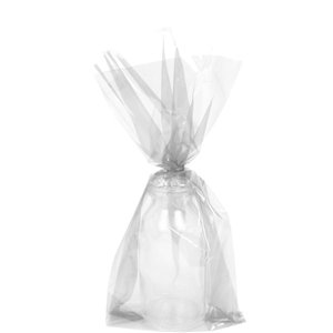 Clear Small Cello Party Bags - 24cm