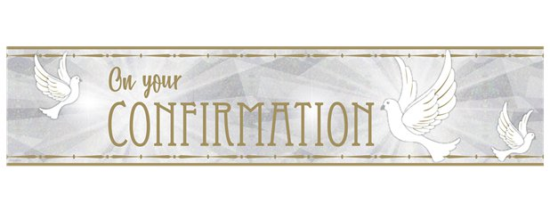 Confirmation Dove Foil Banner - 2.7m